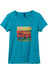Prana W's Artistry Tee retro teal surf